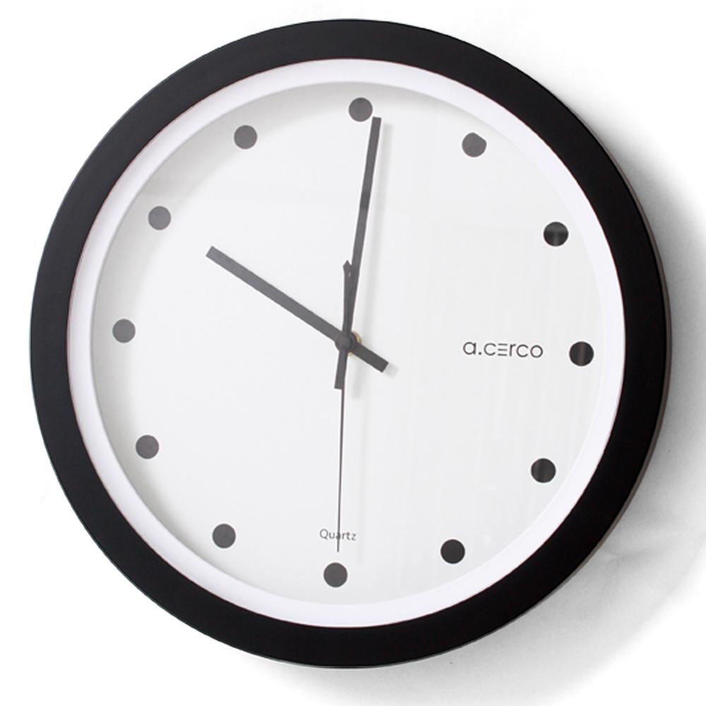 a.cerco LUNA 設計掛鐘-黑點