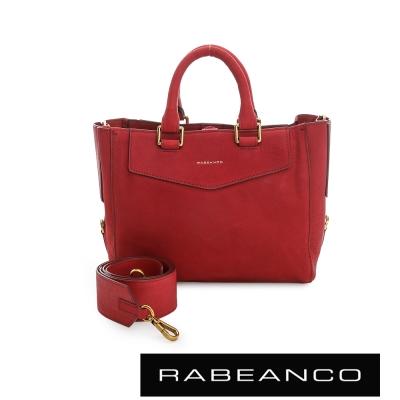 RABEANCO 迷時尚通勤美學手提包 - 紅