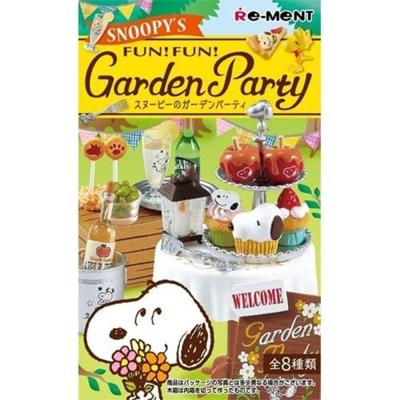日本正版授權 盒裝8款 Snoopy 史努比的花園派對 盒玩 Re-ment
