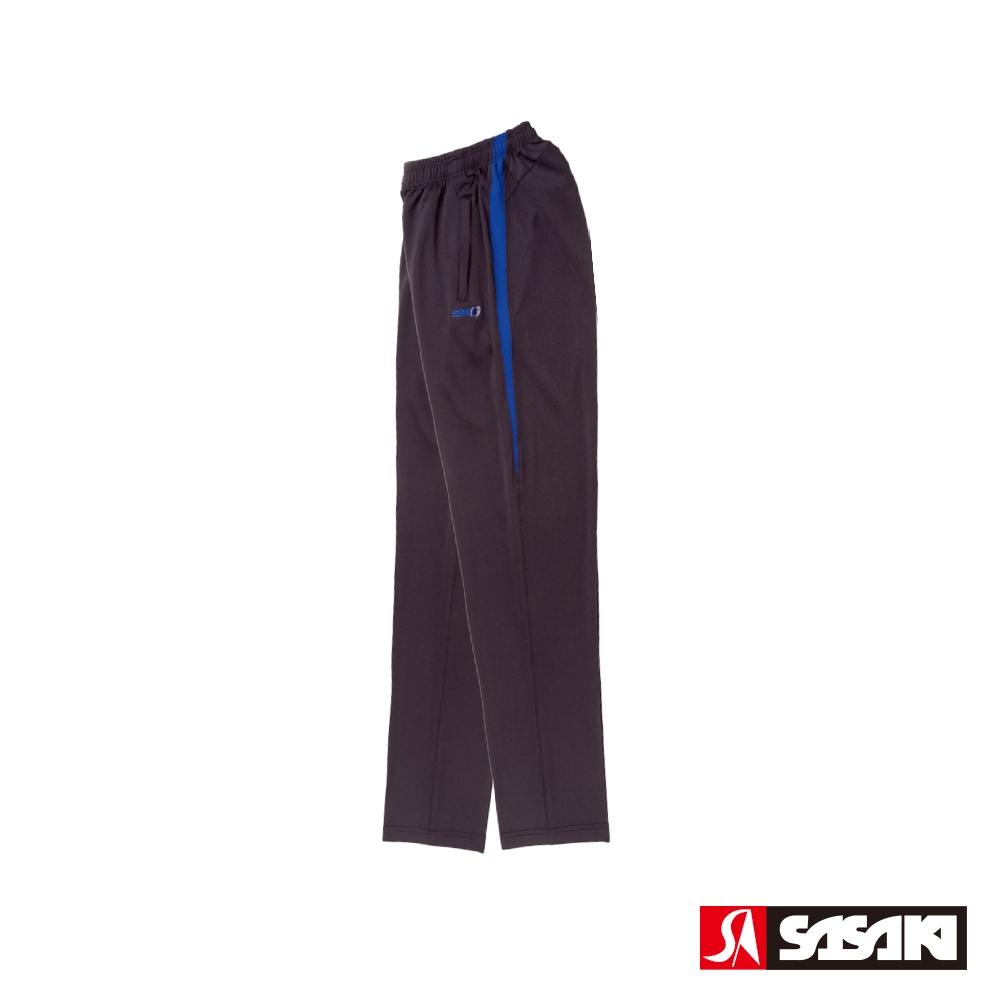 SASAKI 吸濕排汗功能針織運動長褲-男-黑/義大利藍