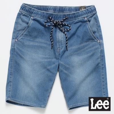 Lee 牛仔短褲 運動休閒牛仔短褲/UR-男款-淺藍