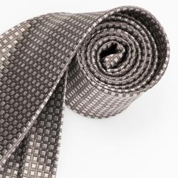 極品西服 經典品味絲100%格紋領帶_ 卡其底淺咖(YT5017)