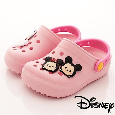 迪士尼童鞋 TSUMTSUM洞洞涼鞋款-FO18313粉(小童段)