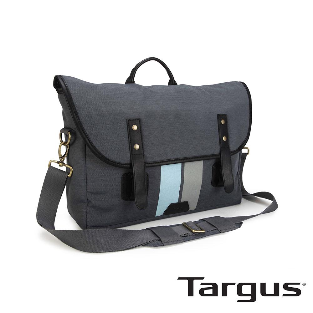 Targus Geo 復古休閒 15.6 吋皮扣信差包-復古灰