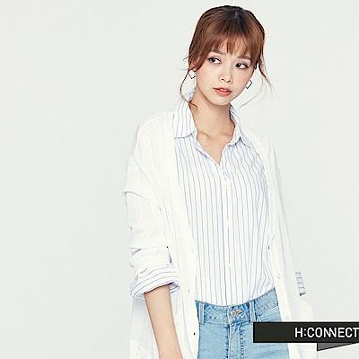 H:CONNECT 韓國品牌 女裝-後露背針織薄外套 -白