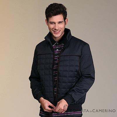 ROBERTA諾貝達 禦寒保暖 優雅品味 厚舖棉夾克外套 深藍