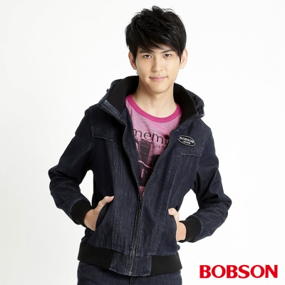 BOBSON 男款熱感IN牛仔外套(藍52)