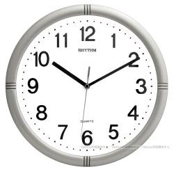 RHYTHM 麗聲 高CP值簡約滑動指針靜音掛鐘-未來銀/28cm