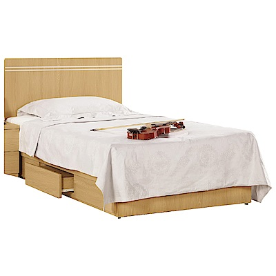 品家居 多瑪3.5尺單人收納床台組合(不含床墊)-106x189x91cm免組
