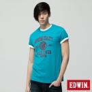 EDWIN T恤 夏日休閒風格T恤-男-灰藍