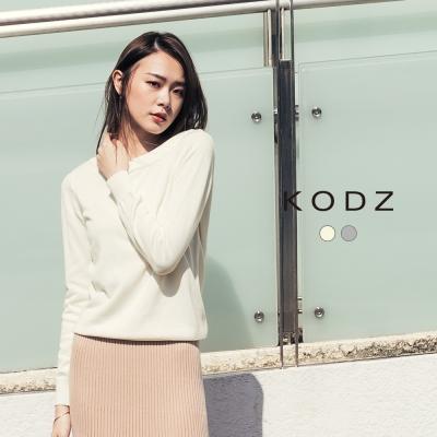 東京著衣-KODZ 都會設計後綁帶設計針織上衣-S.M.L(共二色)