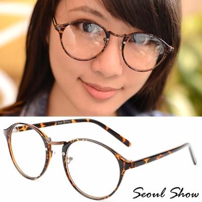 Seoul Show 極致簡約 平光眼鏡 2032豹紋