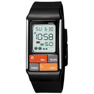 CASIO 太空漫步幾何方塊數字錶(LDF- 50 - 1 A)-黑/ 23 . 6 mm