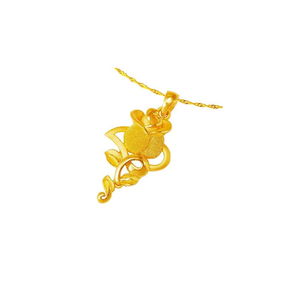 Magic魔法金 真心玫瑰黃金墜(約1.75錢)