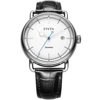 FIYTA飛亞達 復古經典機械錶(GA802003.WWB)-白色/42mm