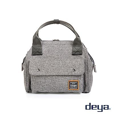 deya 潮流大口二用手提側背包-鐵礦灰