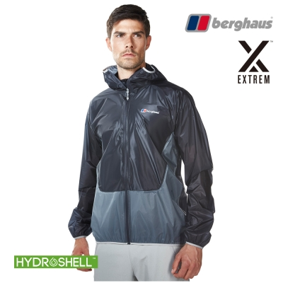 【Berghaus貝豪斯】男款超輕薄HydrShell防水透氣外套S02M06碳灰