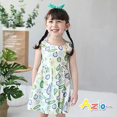 Azio Kids 童裝-洋裝 滿版水果後拉鍊背心洋裝(白)
