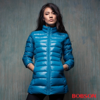 BOBSON 女款輕量羽絨長版外套