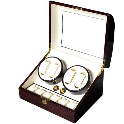 PARNIS BOX 原木鋼琴烤漆自動收納盒 (自動上鍊盒4+6) 動力儲存 EW 搖錶器