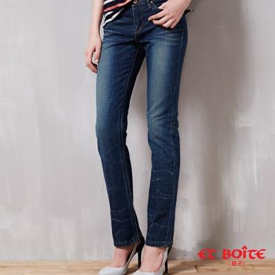ETBOITE 箱子 BLUE WAY 窄直筒折痕低腰褲