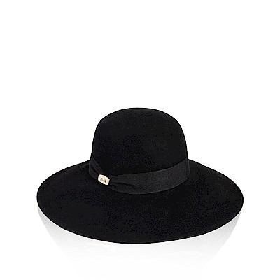 Alviero Martini 義大利地圖 黑色羊氈圓頂禮帽