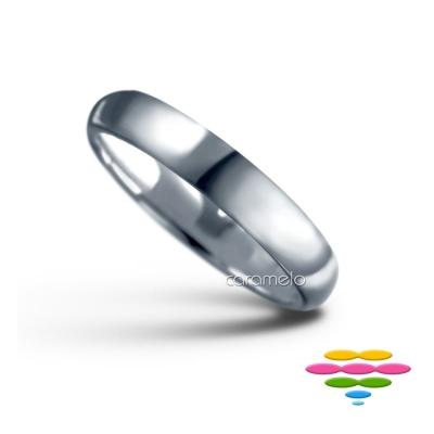 彩糖鑽工坊 幸褔指輪系列 K白戒指(寬4mm)