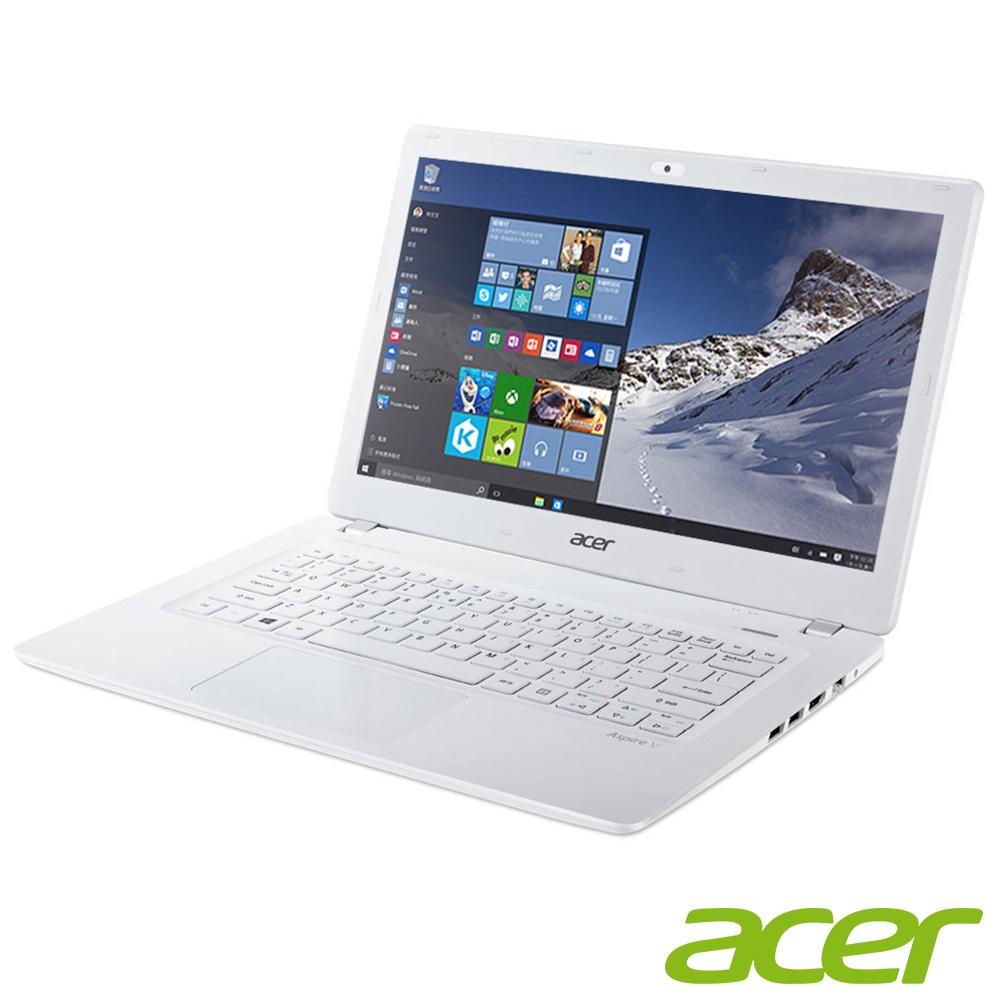 acer V3-371-54AG 13吋筆電(i5 5200U/4G/Win10/白/組合優惠