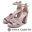 Vince Camuto 甜美絨面高跟涼鞋-絨粉