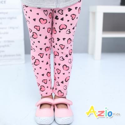 Azio Kids 童裝-內搭褲 不倒絨愛心鬆緊腰內搭褲(粉)