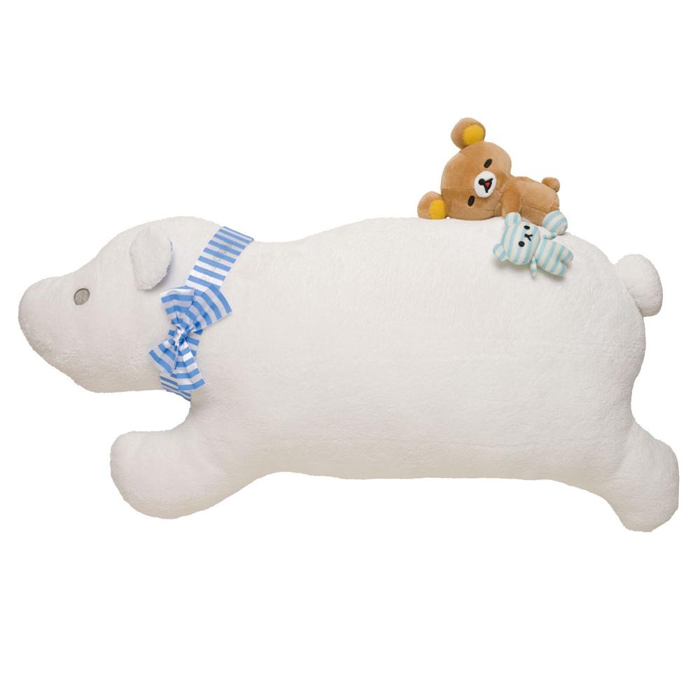 拉拉熊我愛北極熊系列毛絨公仔抱枕 - 北極熊