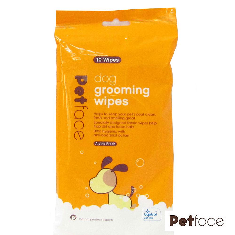 Petface理容消毒濕巾、犬用、10片裝