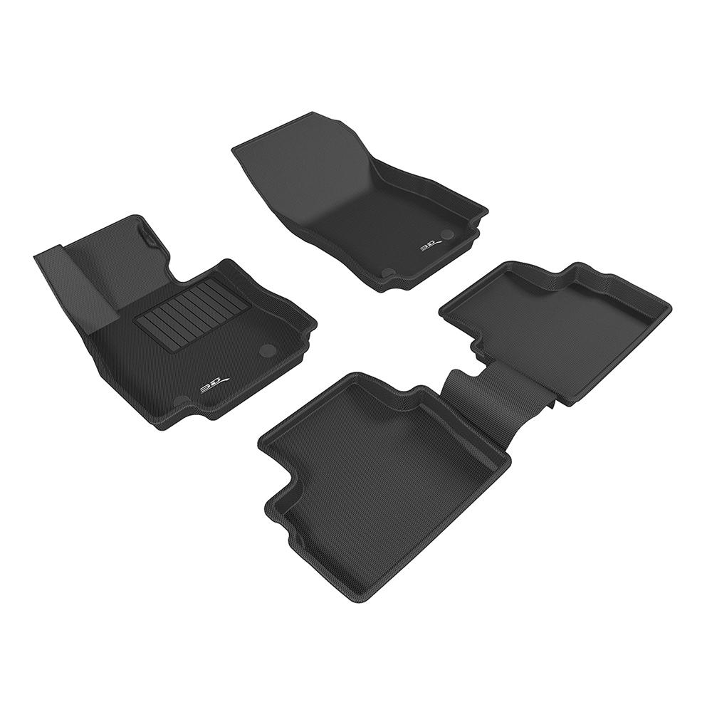 3D 神爪卡固立體踏墊 Mazda 2 2016~ 後座無安全帶護蓋