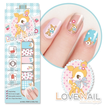 哈尼鹿Hummingmint x LOVE NAIL 限定版指甲油貼-幸福甜果實
