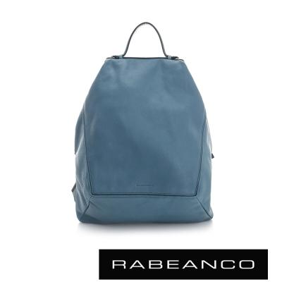RABEANCO-時尚系列牛皮菱形後背包-天空藍