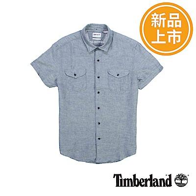 Timberland 男款麻灰色Mill River水手布襯衫