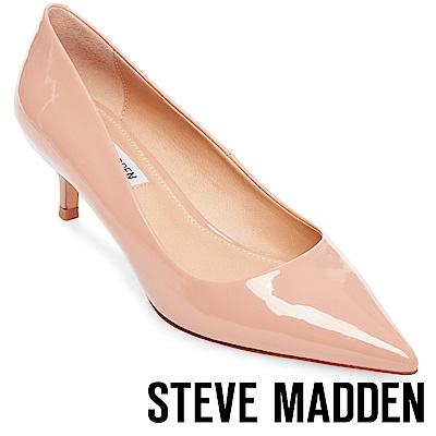 STEVE MADDEN-SABRINAH-素面尖頭中跟鞋-鏡粉