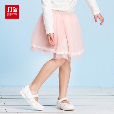 JJLKIDS 法式優雅女孩蕾絲紗裙(藕粉)