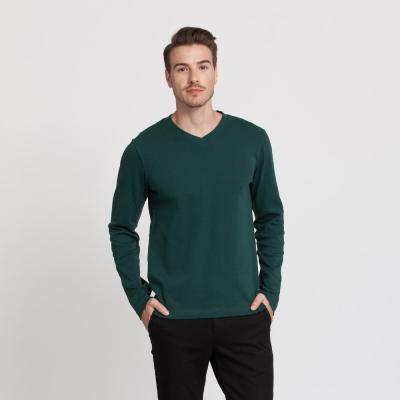 Hang Ten - 男裝 - 經典V領多彩T恤 - 橄欖