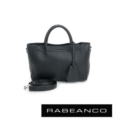 RABEANCO迷時尚系列優雅兩用小手提包-小-黑