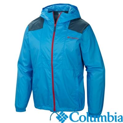 Columbia哥倫比亞-單件防潑外套-男-藍色