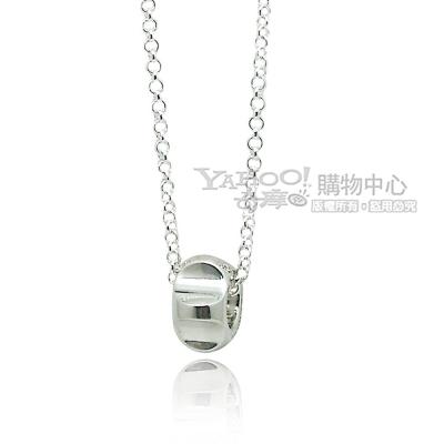 TIFFANY&Co. 律動波紋圓型925純銀項鍊