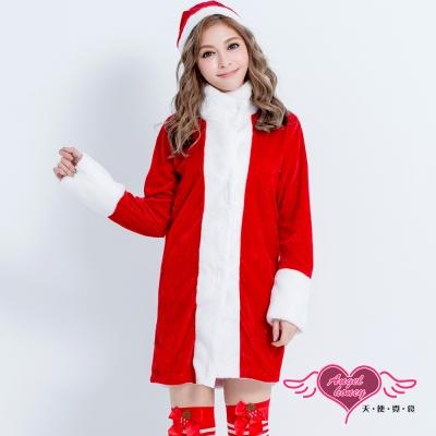 耶誕服寒冬獻禮聖誕舞會角色扮演長版連身衣紅F AngelHoney天使霓裳