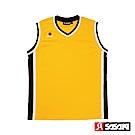 SASAKI 雙面穿長效性吸排V領籃球背心-男-湖人黃/黑(寬肩版)