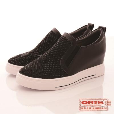 ORIS 女 休閒水鑽內增高鞋~黑WA17852N01