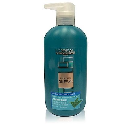 *LOREAL萊雅 Hair SPA茶樹清新潤髮乳600ml