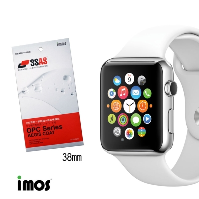 iMos Apple Watch(38mm)超抗潑水疏油效果保護貼-兩入