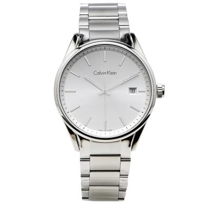 cK Formality 風雅系列三針腕錶-銀白/43mm