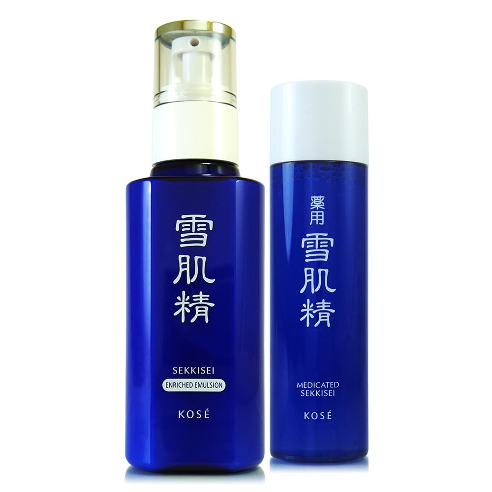 KOSE高絲 雪肌精乳液140ml(極潤型)贈雪肌精化妝水45ml