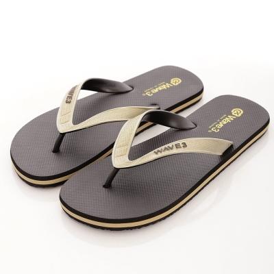 WAVE3【男】獨家設計ESP-四代人字夾腳拖鞋~黑金